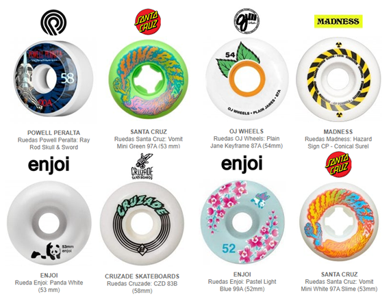 comprar ruedas skateboard