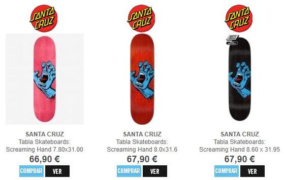 Tablas Santa Cruz Screaming Hand