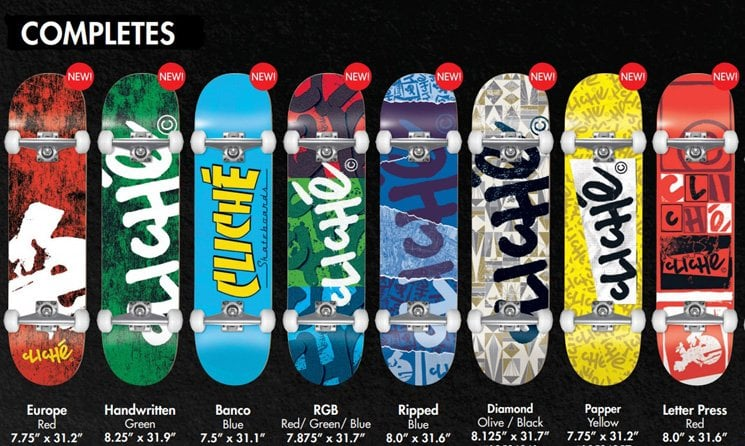 Cliche Skateboards Completes