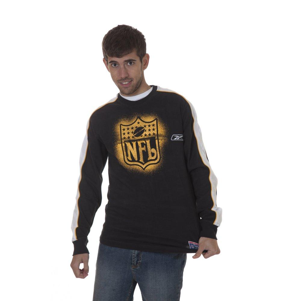 059398ec663cb ... Camiseta NFL Reebok  ML BK ...