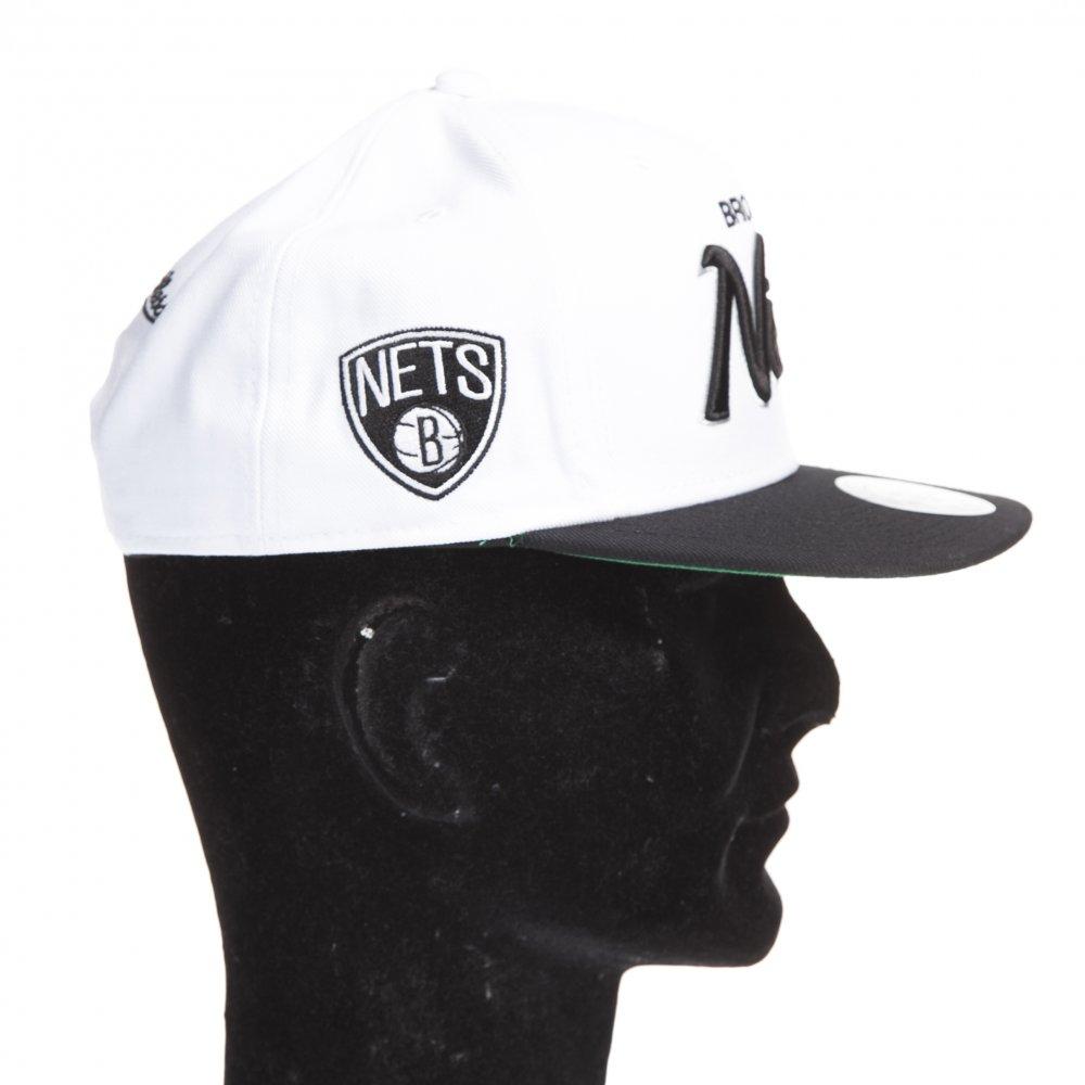 5fc1b1ffb8f4b ... Gorra Mitchell   Ness  Brooklyn Nets WH BK ...