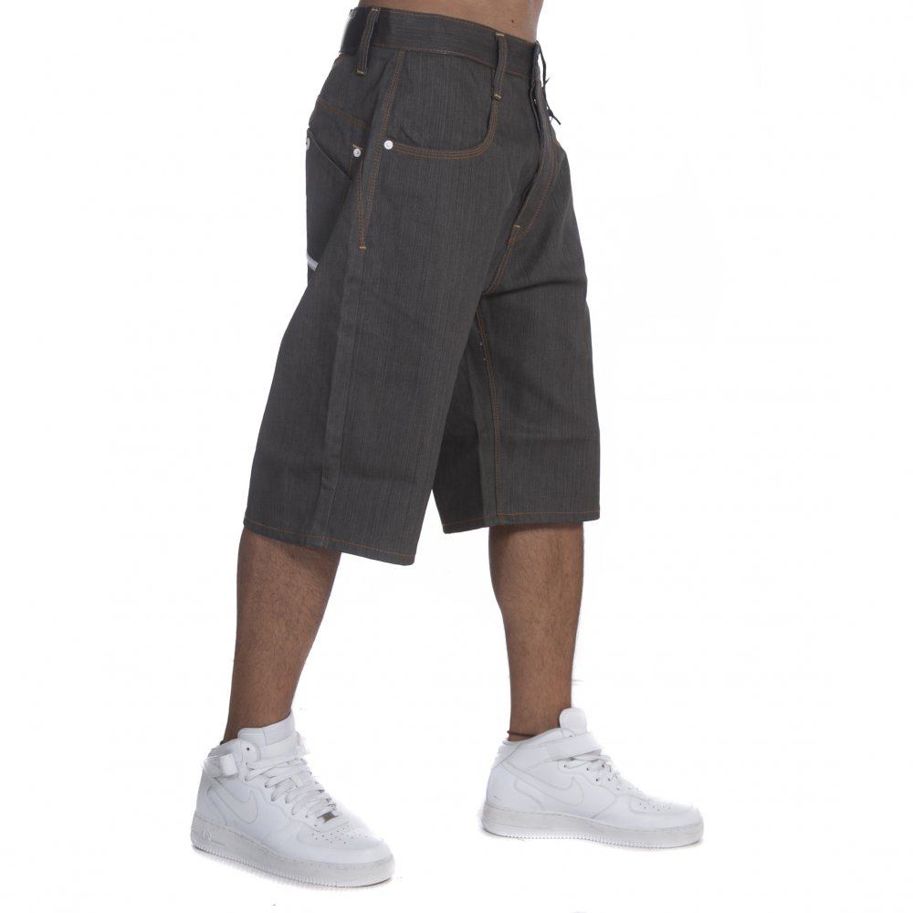 f17ee28a702978 Pantalon Corto Rocawear: Short Denim Mid Grey Army GR   Comprar ...