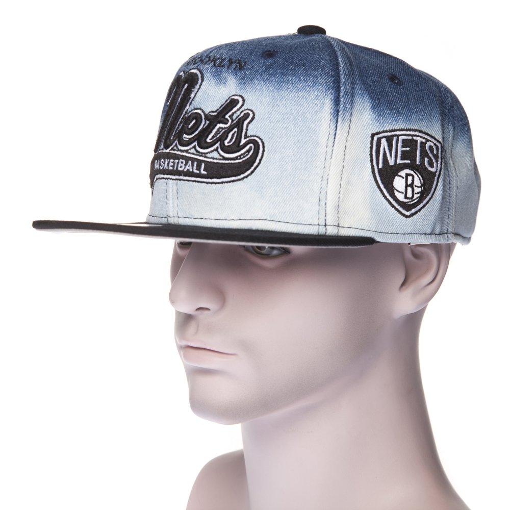a8e8a51f71f5f Gorra Mitchell   Ness  EU165 Brooklyn Nets BL BK ...