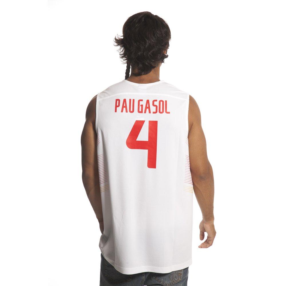 5abb7ae4221 ... Camiseta de tirantes Nike: Spain Replica jersey Pau Gasol WH ...