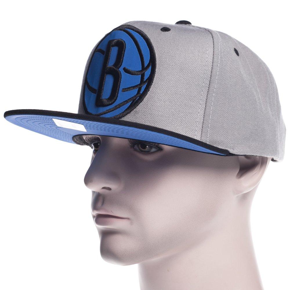 Gorra Mitchell   Ness  NBA Brooklyn Nets GR BK ... f5b90c4c296