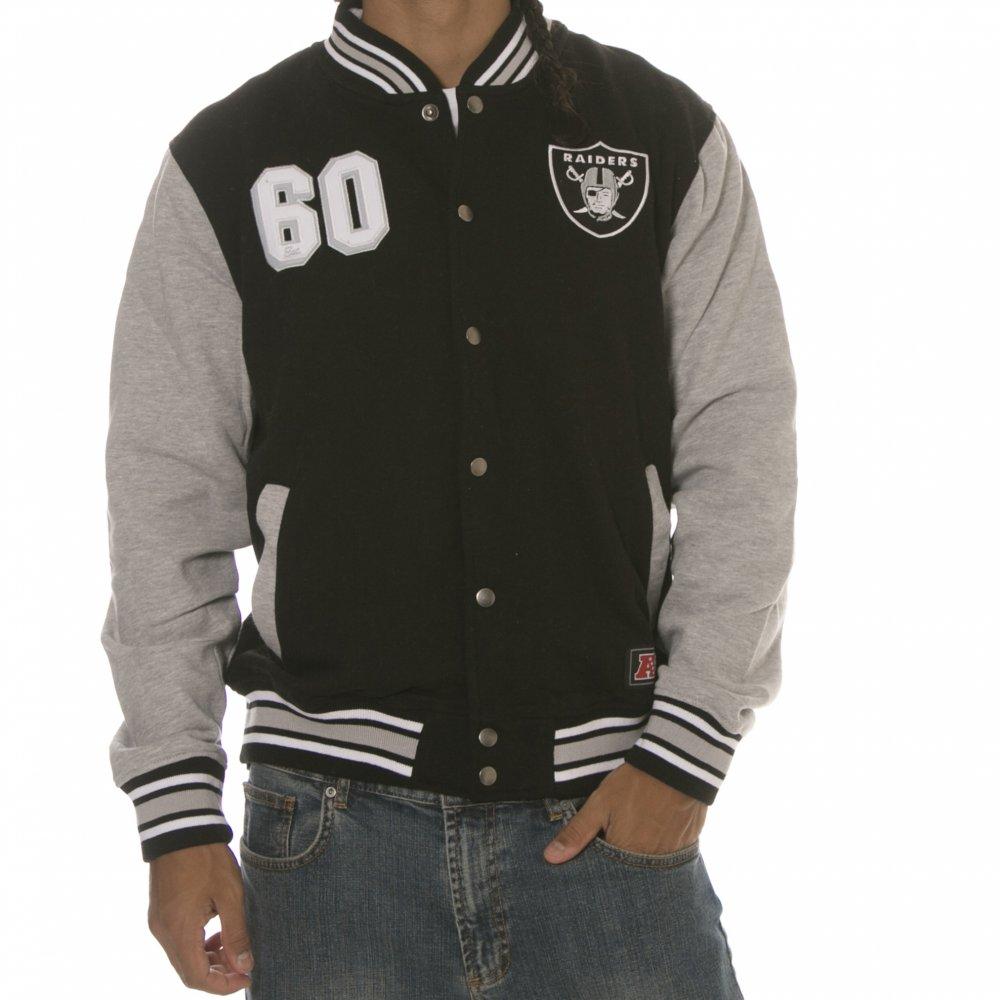 Chaqueta Majestic  Oakland Raiders NFL Crew BK ... 78487b2c49e