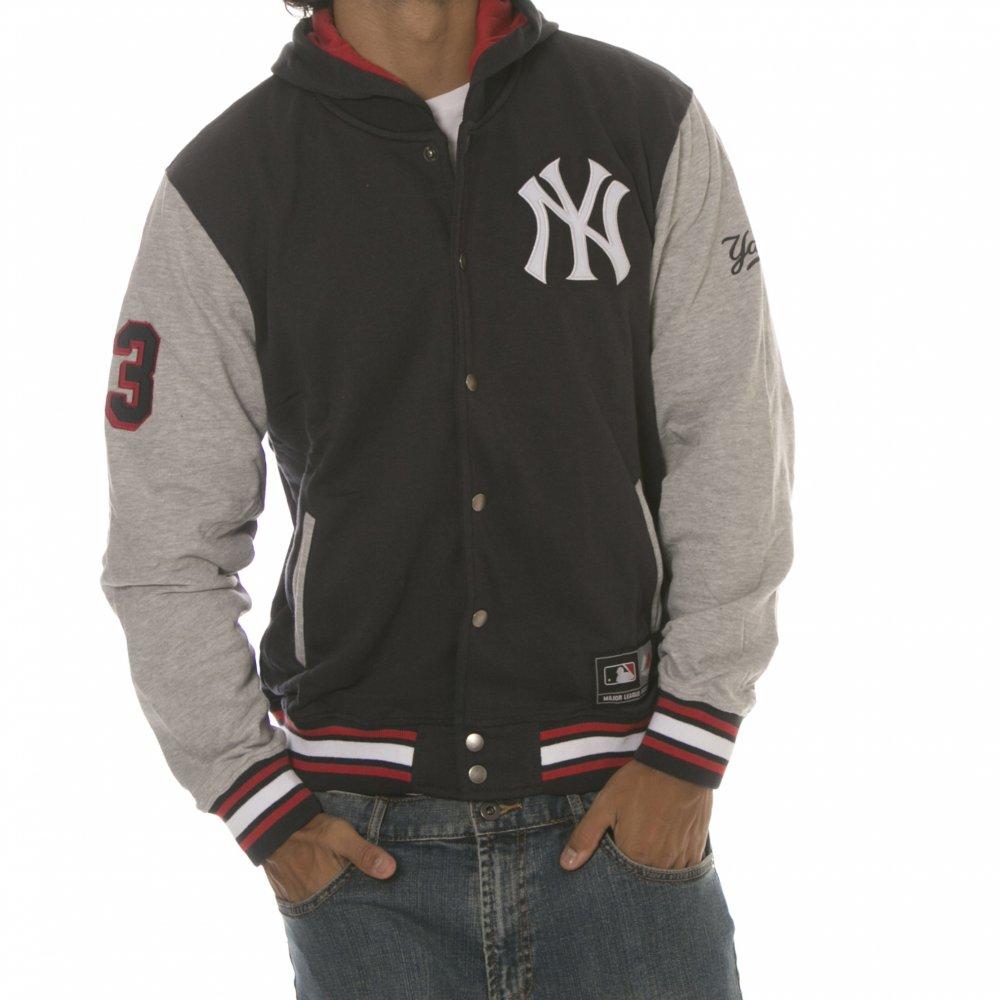 43b55173577f6 Chaqueta-Sudadera Majestic  New York Yankees NFL Crew NV ...