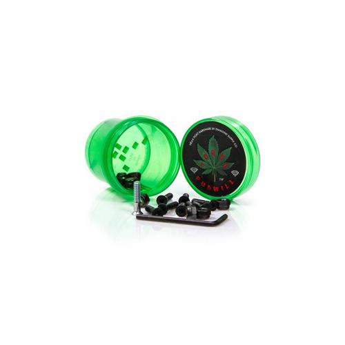 "Tornillos Diamond: Hella Tight Hardware Torey Pudwill 7/8"" Green"