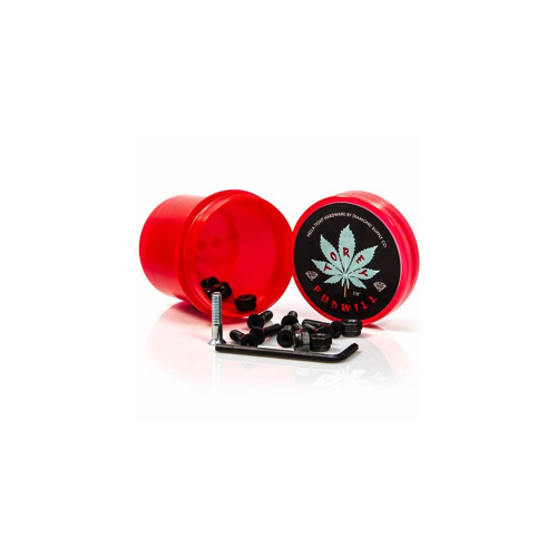 "Tornillos Diamond: Hella Tight Hardware Torey Pudwill 7/8"" Red"