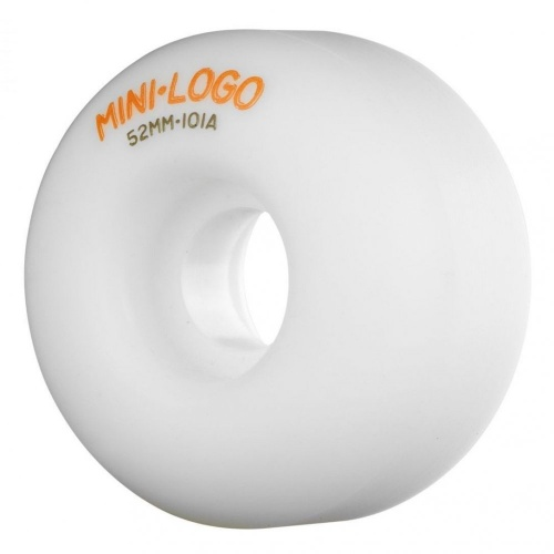Ruedas Mini-Logo Skateboards: C-Cut White (52 mm)