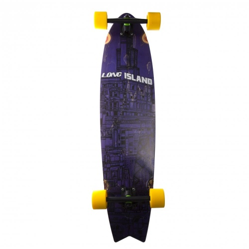 Longboard Completo Long Island Skateboard: 13A City Building Spring