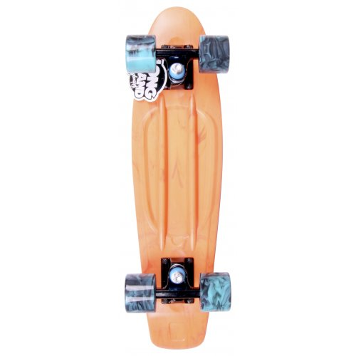 Cruiser Long Island Skateboard: Buddie 15B LI All Over Ice Coral 22.5""