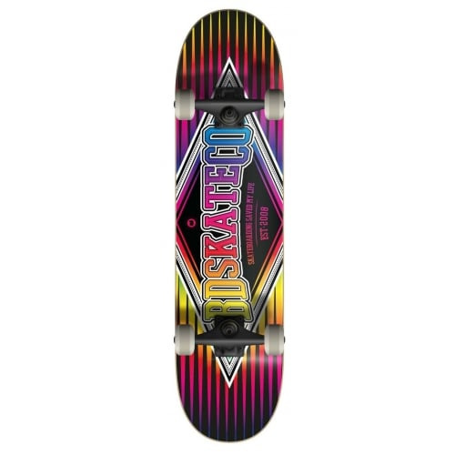 Skate Completo BDSkateCO: Diamond Multitone Black 7.75