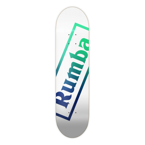 Tabla Rumba Skateboarding: R1 Logo White Green Fade 8.5