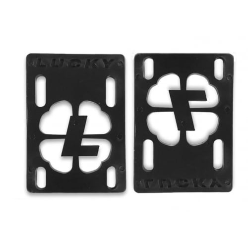 "Alzas Lucky: Risers 1/8"" Black"