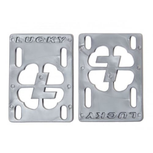 "Alzas Lucky: Risers 1/8"" Silver"
