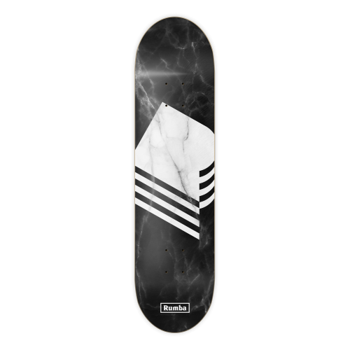 Tabla Rumba Skateboarding: Marble Black 8.6