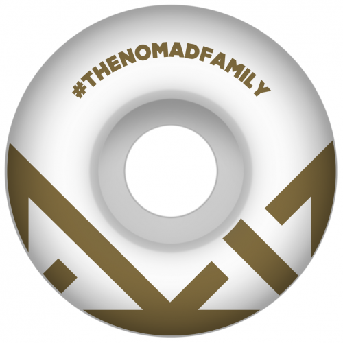 Ruedas Nomad: Crown Logo Gold (52 mm)