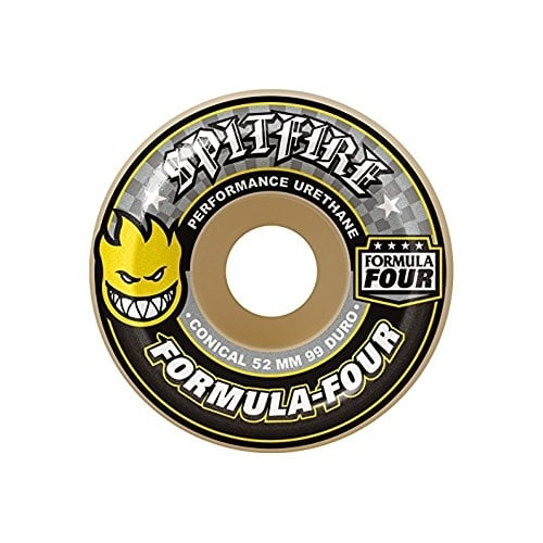 Ruedas Spitfire: F4 99D Conical Yellow Print (52 mm)