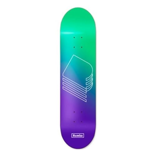 Tabla Rumba Skateboarding: Gardienr Green Purple 8.6