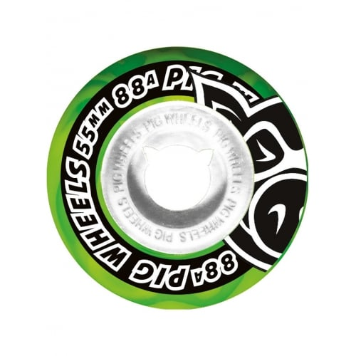 Ruedas Pig: Street Cruisers New Green (55 mm)