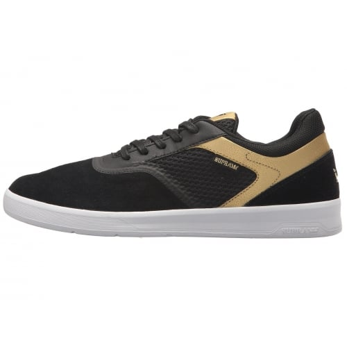 Zapatillas Supra: Saint Black-Gold-White BK