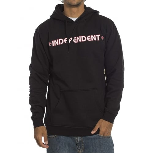 Sudadera Independent: Hood Bar Cross BK