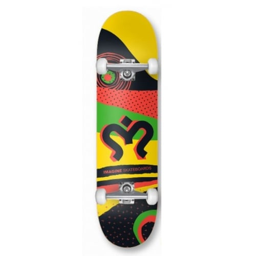 Skate Completo Imagine Skateboards: Rasta 7.8