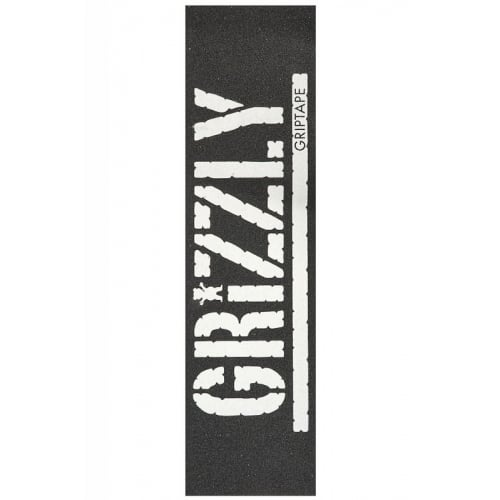 Lija Grizzly: Oversized Stamp Print White
