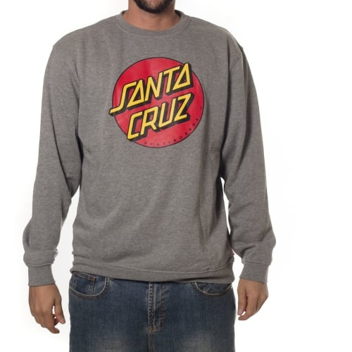 Sudadera Santa Cruz: Crew Classic Dot Dark Heather GR