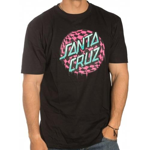 Camiseta Santa Cruz: Check Waste Dot BK