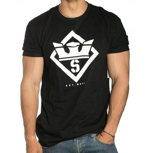 Camiseta Supra: Stencil Reg SS BK