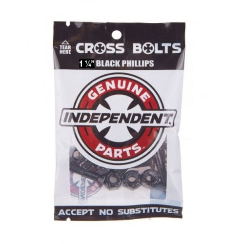 """Tornillos Independent: Genuine Parts Phillips 1.25"""" black"""