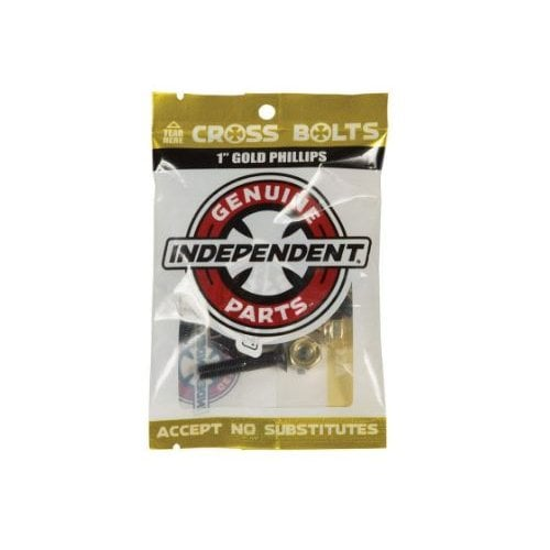 """Tornillos Independent: Cross Bolts Phillips Gold 1"""""""