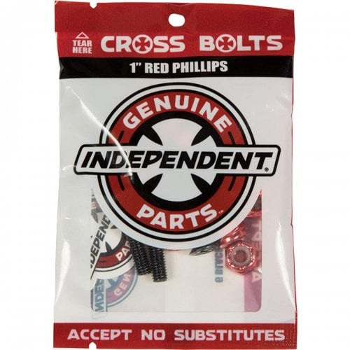 """Tornillos Independent: Cross Bolts Phillips Red 1"""""""