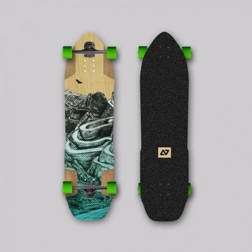 Longboard Completo Hydroponic: SHERPA 2.0 Turquoise 38,3x9,53