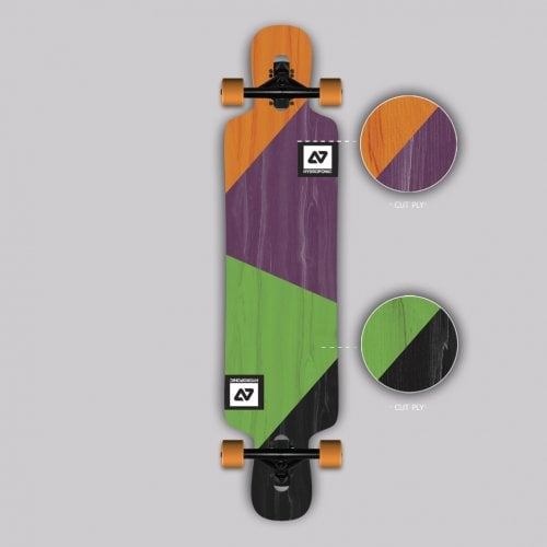 Longboard Completo Hydroponic: DT 3.0 CUT PLY 39x8.75