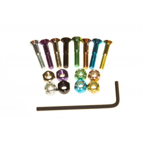 "Tornillos BDSkateCO: Metal Multi Color 1"" Allen"