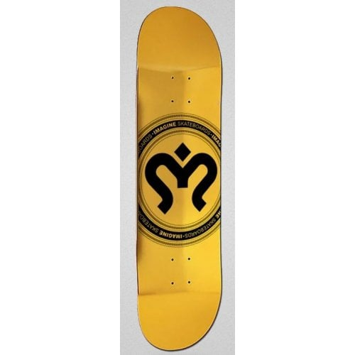 Tabla Imagine Skateboards: Medallion Gold 8.7