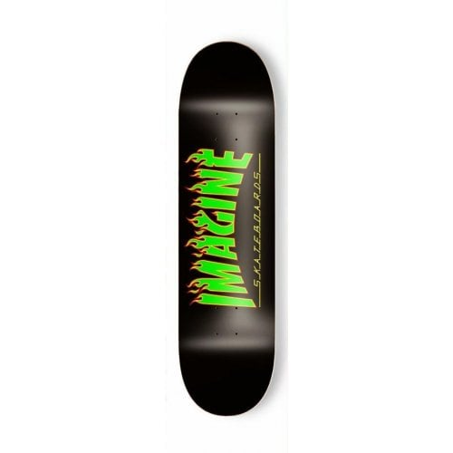 Tabla Imagine Skateboards: Flames Rasta 8.125