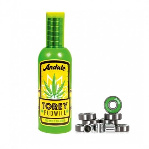 Rodamientos Andale: Torey Pudwill Green Hot Sauce Wax & Pro Rated Bearings