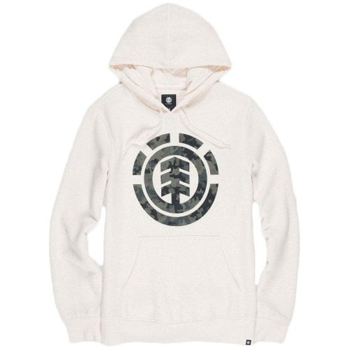 Sudadera Element: Bark logo Hoodie Bone White WH