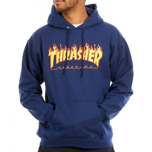 Sudadera Thrasher: Flame Logo Hood NV