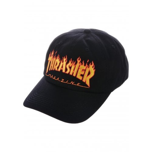 Gorra Thrasher: Flame Old Timer Hat BK