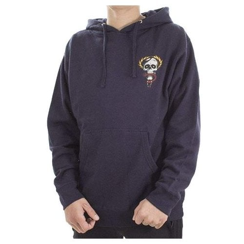 Sudadera Powell Peralta: MCGill Skull and Snake Mid Weight Navy Hood NV