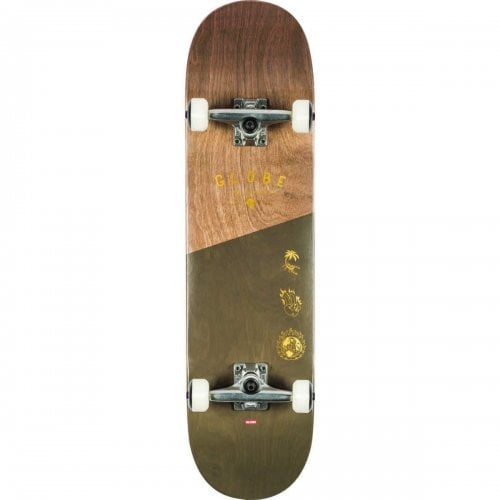 Skate Completo Globe: G1 Insignia Dark Maple/Green 8.25