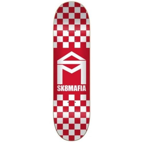 Tabla SK8 Mafia: House Logo Checker Red 8.25