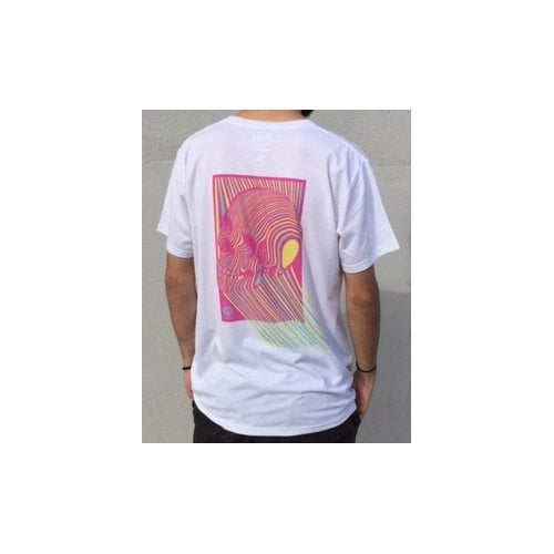 Camiseta Imagine Skateboards: Skull Pink WH