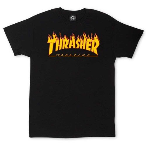 Camiseta Thrasher: Flame Logo BK