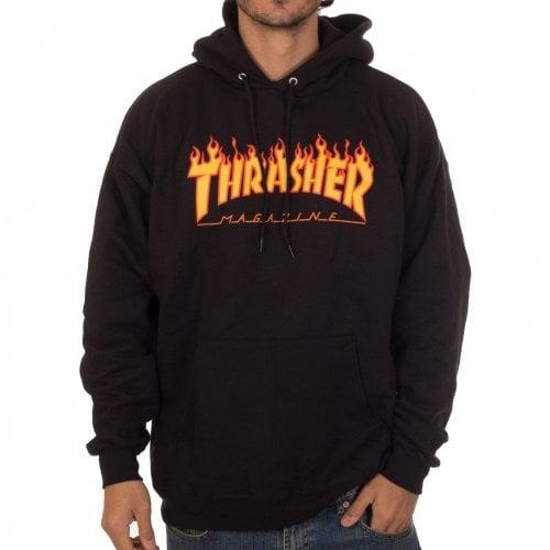 Sudadera Thrasher: Flame Logo Hood BK